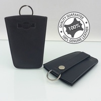 Mens Womens Genuine Full Grain Leather Slim Key Wallet Ultra Sleek 079 E-1