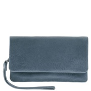 Women's Soft Leather Fold Over Wallet with Hand Strap