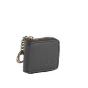 Genuine Soft Leather Unisex Coin Change Pouch Zip Purse