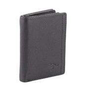 Genuine Bi-Fold Full Grain Leather RFID Protected Wallet Black