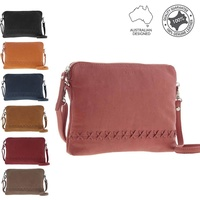Women's Crossbody Zip Pouch Designer Genuine Soft Leather Bag
