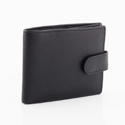 Full Grain Leather RFID Protected  Wallet Black 8 Cards, W393, Oran