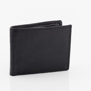 RFID Genuine Full Grain Cowhide Leather Wallet Black 9 Cards Slots Coin New Oran