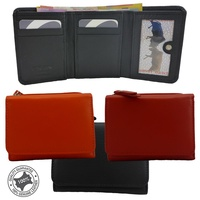 New Ladies Genuine Soft Leather Medium/Small Multi Colours Wallet/Coin Purse WL-1073